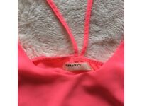 Floaty pink strappy top