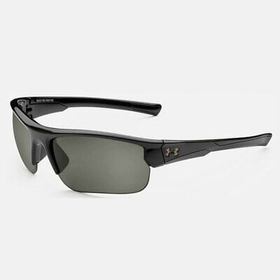UNDER ARMOUR PROPEL SUNGLASSES SHINY BLACK FRAME / GRAY LENS NEW IN BOX!! 19672