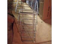 Chrome Kitchen Saucepan Rack Stand