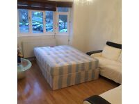 Extra large Double Room near central london at Golders Green is Available Now NW2 2TF, free wifi.