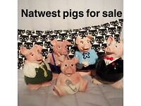 NatWest pigs full collection money boxes