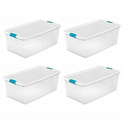 Sterilite 106-Qt. Clear Stackable Latching Storage Box Conta