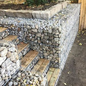 Gabion Basket Garden Retaining Wall Water Erosion flood Control