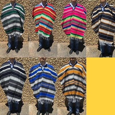 MEXICAN SERAPE SALTILLO PONCHO , 5 DE MAYO PARTY COSTUME , ONE SIZE FITS ALL](Mayonnaise Costume)