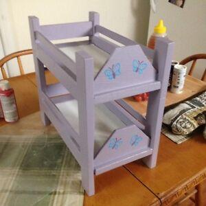 Homemade toy bunkbed set
