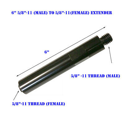 6 Extension Core Drill Bit 58-11 Thread Male To 58 -11 Female Extender