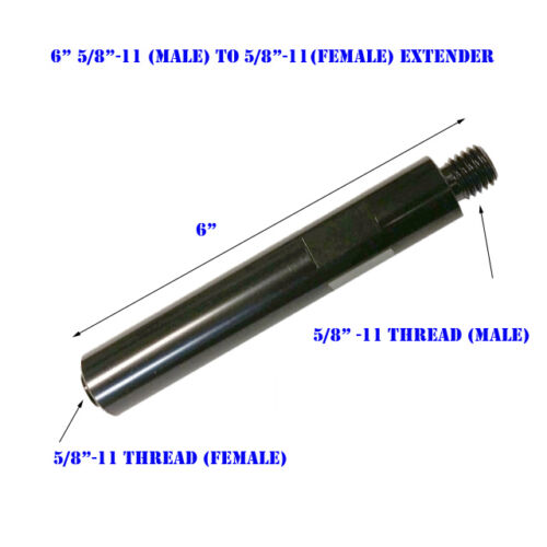 """6"""" Extension Core Drill Bit 5/8""""-11 Thread Male to 5/8"""" -11 Female Extender"""