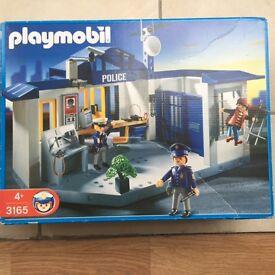 Playmobile Police Station (3165) & Patrol Bike (3986)