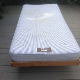 single bed frame and single mattress