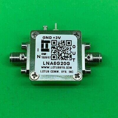Broadband Low Noise Amplifier 2.5db Nf 6g20ghz 22db Gain 11dbm P1db Sma