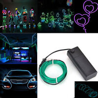 For sell 1M & 3M Car Party White Neon EL Glow Light Wire Rope Tu