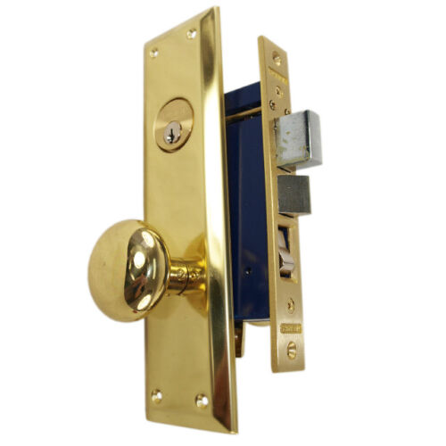 Marks 91A/3 Left Hand Polished Brass Apartment Entry Heavy Duty Mortise Lockset