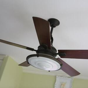 """Kichler 52"""" Kittery Point Ceiling Fan with Light in Oil-Rubbed B"""