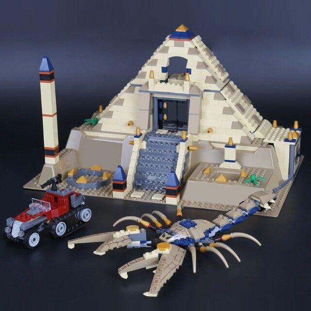 Lego 7327 Pharaohs Quest Scorpion Pyramid All Pieces Mini Figs Box