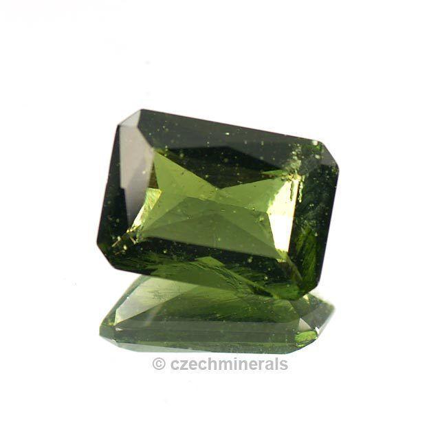 5.95cts octagon princess cut 10x14mm moldavite faceted cutted gem BRUS822