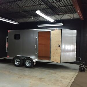 Canadian Made 7' x 12' V-Nose Cargo Trailer • 3 Year Warranty