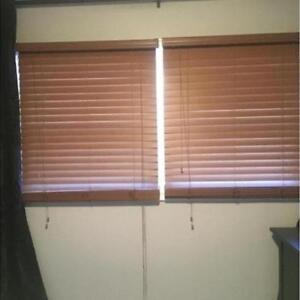 FAUX WOOD BLINDS - Patio - 2 for price of 1