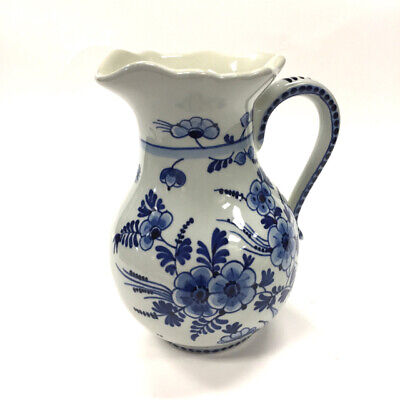 De Poceleyne Fles White-Blue Porcelain Pitcher