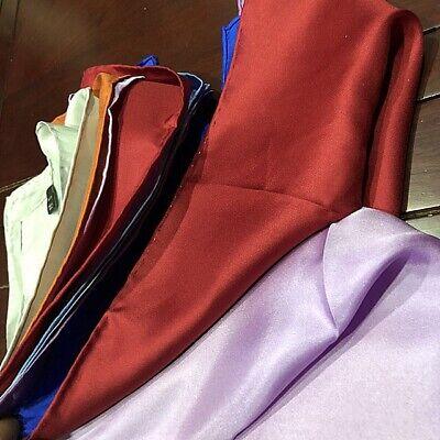 """100% Pure Silk Pocket Square Handkerchief Men Hanky Scarf 15.5"""" Silver wedding"""