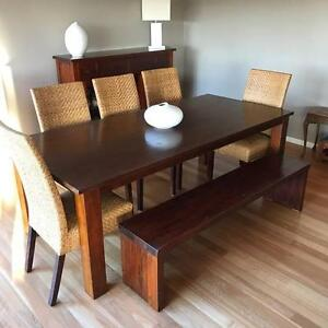 Dining Setting incl. Table, Chairs (5) and bench seat Bolwarra Maitland Area Preview