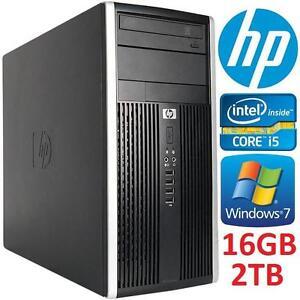 REFURB HP PRO 6300 TOWER DESKTOP PC - 107955874 - INTEL i5 16GB RAM 2TB HDD WINDOWS 7 - COMES /W KEYBOARD  MOUSE