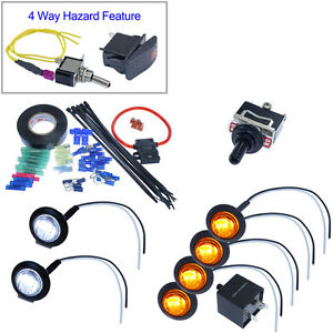 UTV/SXS/ATV LED Turn Signal Kit  for Polaris Rzr Ranger golf cart car jeep buggy