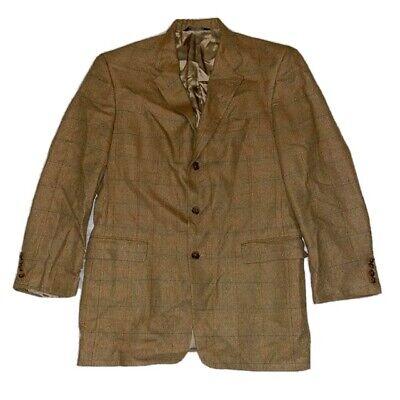 Burberry Mens VTG Light Brown Three Button Suit Jacket Blazer 40R
