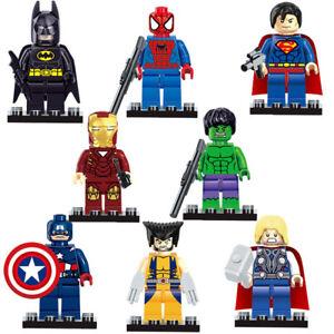 8 NEW Lego Superheroes Minifigures! Iron Man, Hulk, etc.