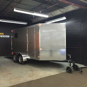 Priced to Clear Out!  7'x12' V-Nose Cargo Trailer Canadian Made Kitchener / Waterloo Kitchener Area image 3