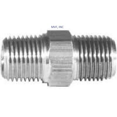 Hex Nipple 14 Male Npt X 14 Male 316 Stainless Steel High Pressure 015nw