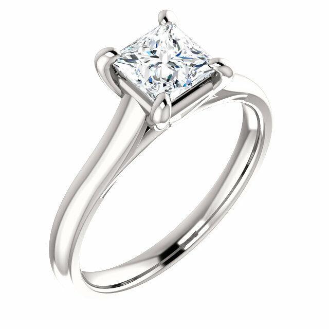 2.70Ct Princess Cut Diamond Engagement Ring w Eternity Wedding Band G VS2 GIA  4