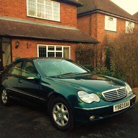 2001 Mercedes C200 Elegance Kompressor 1 OWNER Fully stamped MB Servcie Book always garaged