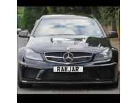 Personal number plate Private Registration RAJ RAJA Audi BMW Mercedes Lexus