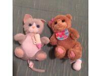 Fureal friends bear and Animagic cat like new