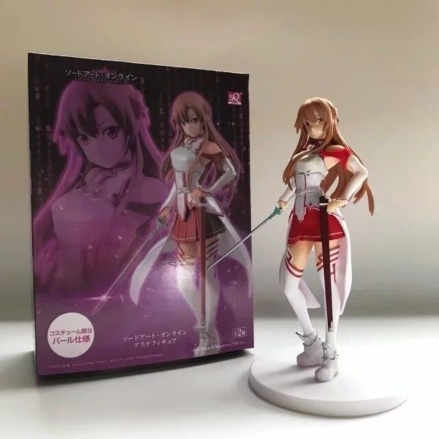 In box 18CM Sword Art Online Yuuki Asuna Stand Figure SAO Girl Collection Toys