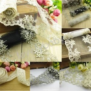 Handcrafts-Vintage-Flower-Lace-Fabric-Trims-Sewing-For-Clothes-Dress-Doll-1-4M