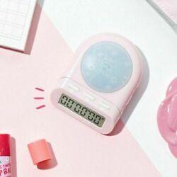 [DRETEC]T-186_Pink/Time Up Timer Stopwatch Clock Big Button/6 digital/LED lamp