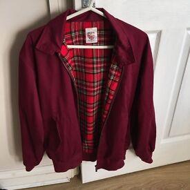 Unsiex burgundy warrior vintage style jacket
