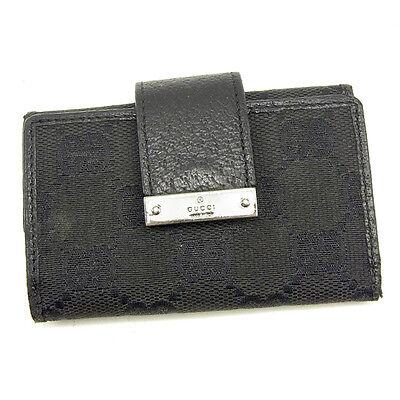 Auth GUCCI key holder GG canvas unisexused Y7402