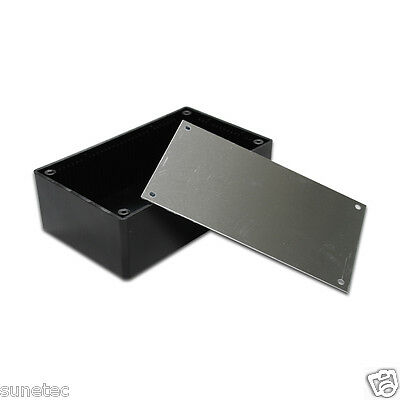 Sx642 6 Diy Black Plastic Electronic Project Enclosure Box Case Metal Base