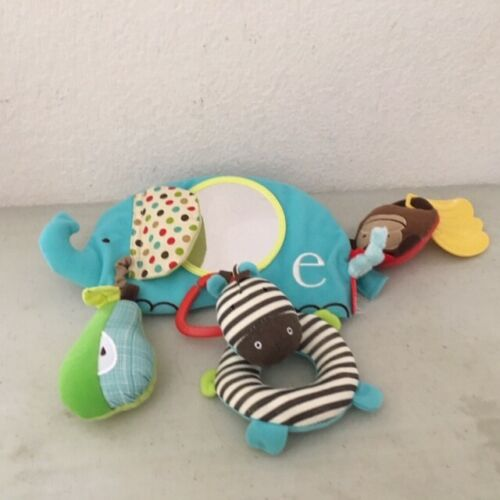 Alphabet Zoo Stroller Bar Car Seat Activity Toy with Banana Teether and Mirror