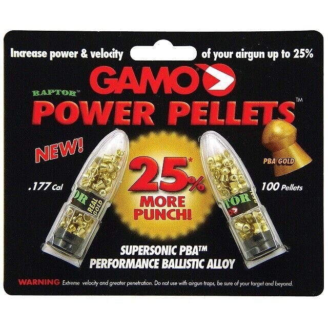 Gamo 632264454 Raptor PBA .177 Caliber 5.1 Grain Performance Pellet Non-Lead
