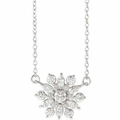 Diamond Vintage-Inspired Necklace In Platinum (1/2 ct. tw.)