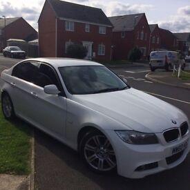 White BMW 318d M Sport