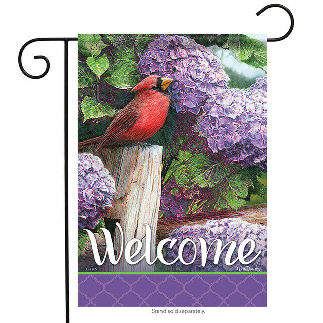 cardinal crimson splendor double sided garden flag