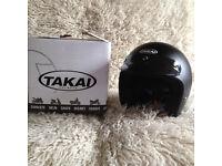 Takai Plain Open Faced Black Matt Motor Cycle Helmet