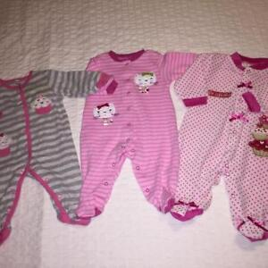 Long-sleeves Onesies x 3 (size 3 months)