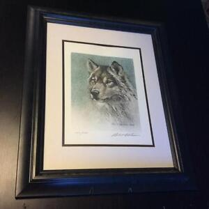 Robert Bateman - Wolf Portrait - signed and numbered print