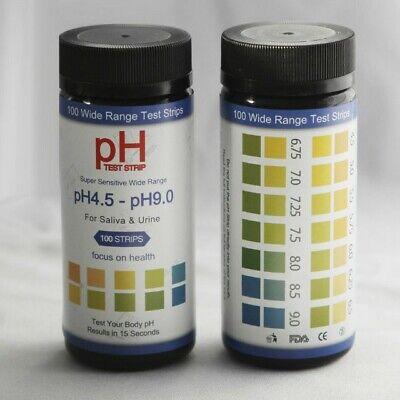 Ph Test Strips 0 To 14 100 Ct For Urine Saliva Drinking Water Kombucha Poo