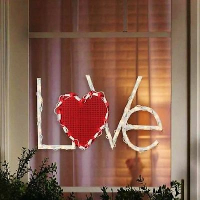 Lighted Valentine's Day Love Heart Window/Wall/Door/Yard Decor (New in Box)